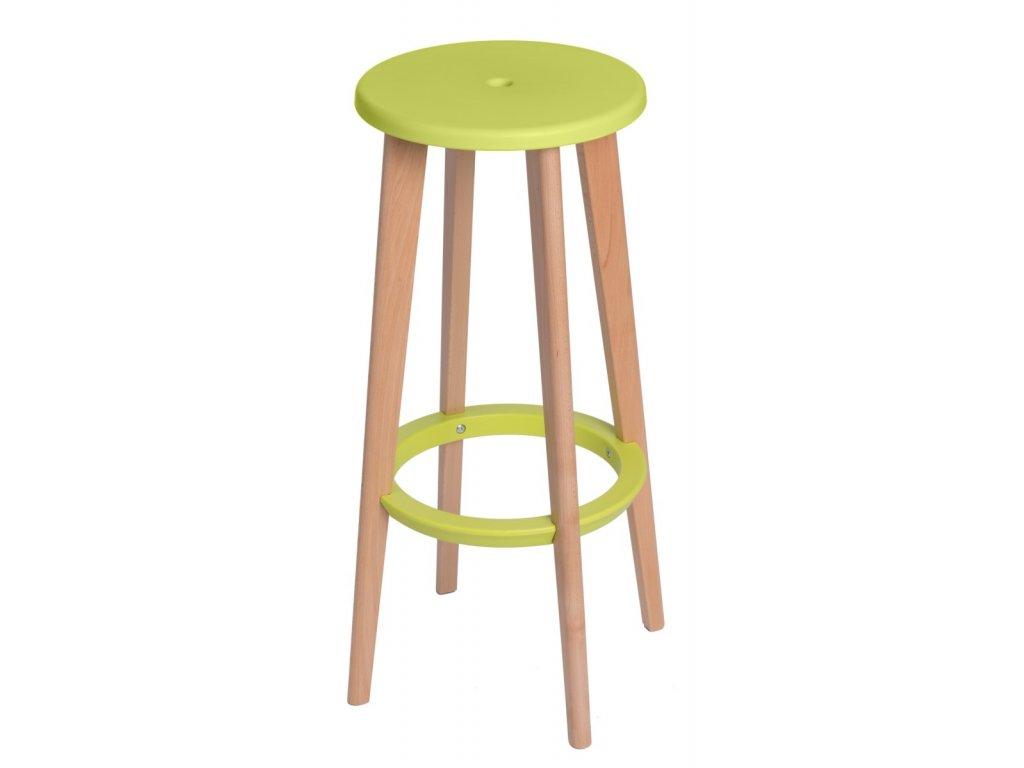 Barová stolička Lush zelená