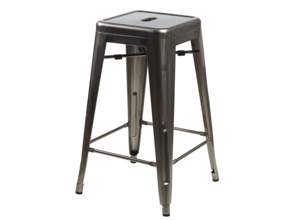 Barová stolička Paris 66cm kovová inšpirovaná Tolix