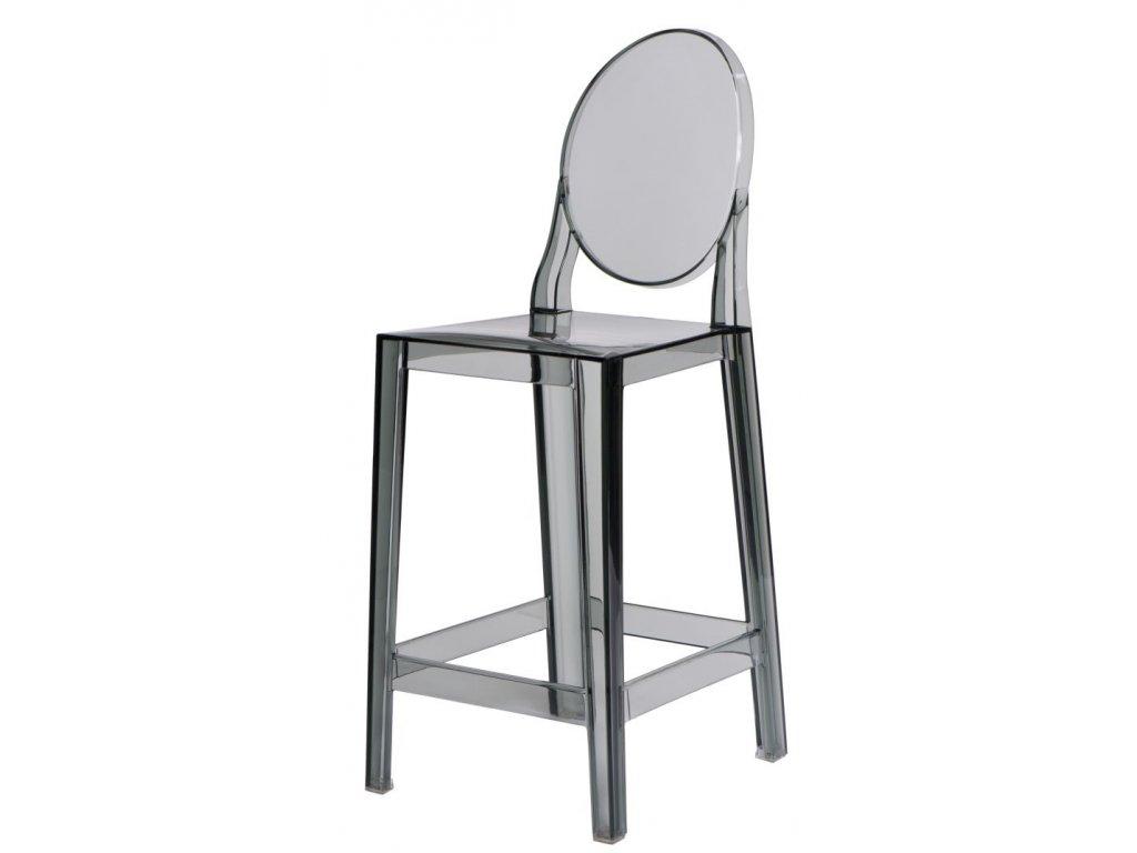 Barová stolička Viki transparentné dymová