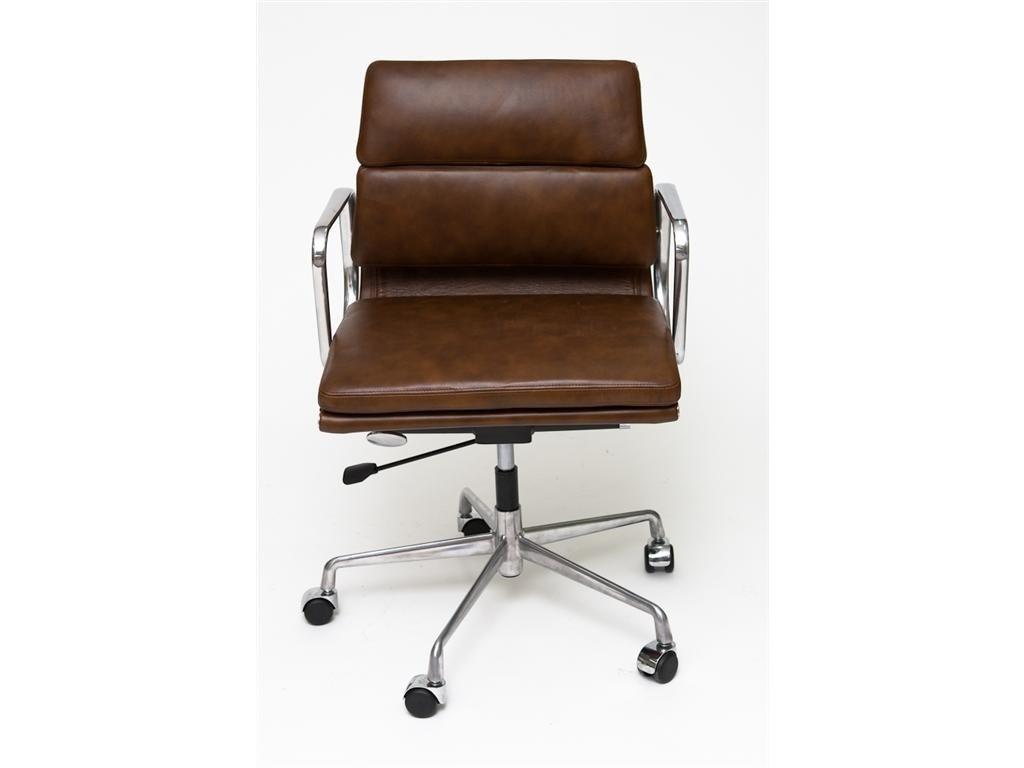 Kancelárske kreslo CH2171 hnedá koža chróm