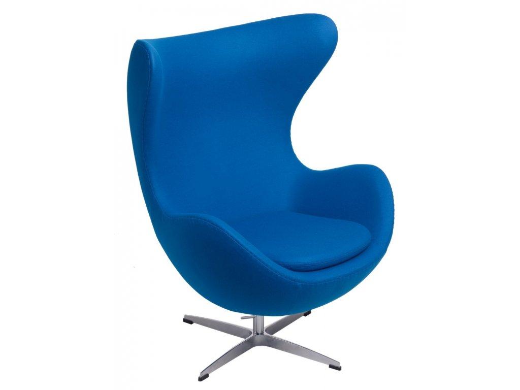 Kreslo EGG modrý kašmír 23 Premium