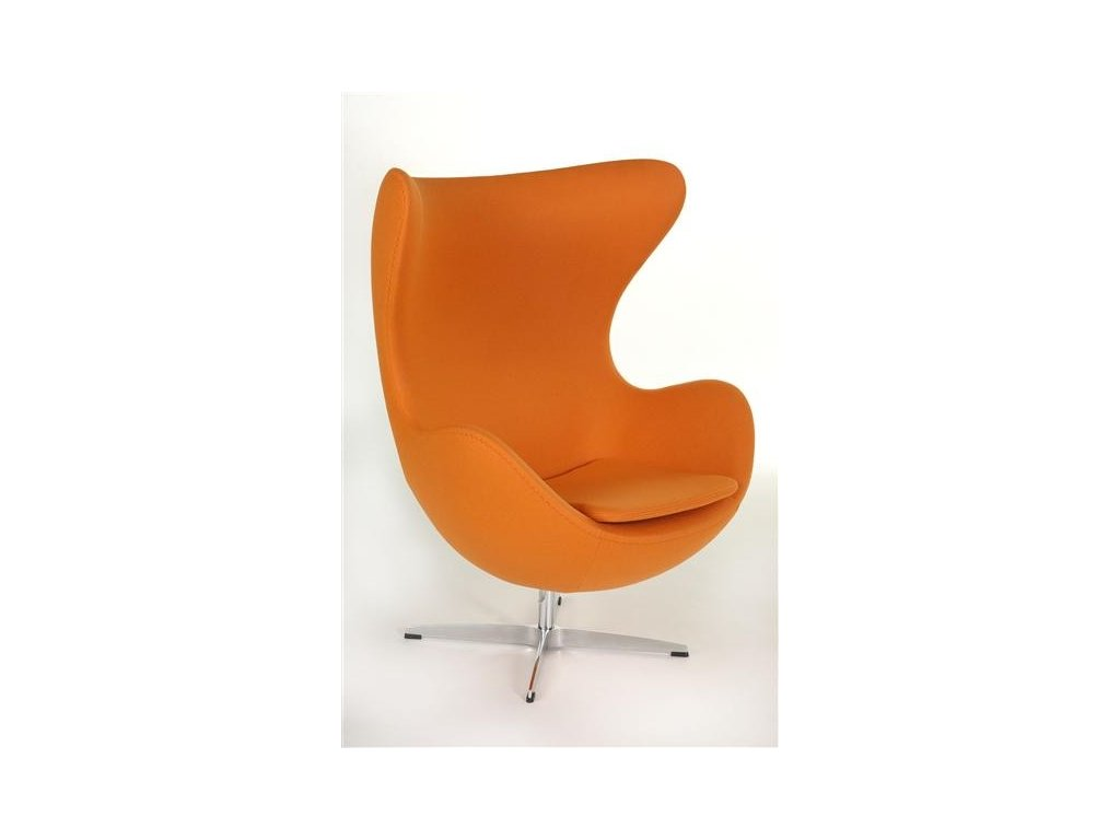 Kreslo EGG oranžové kašmír 11 Premium