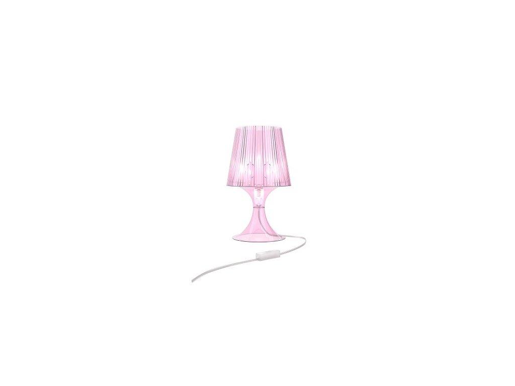 Lampa Smart ružová transparent