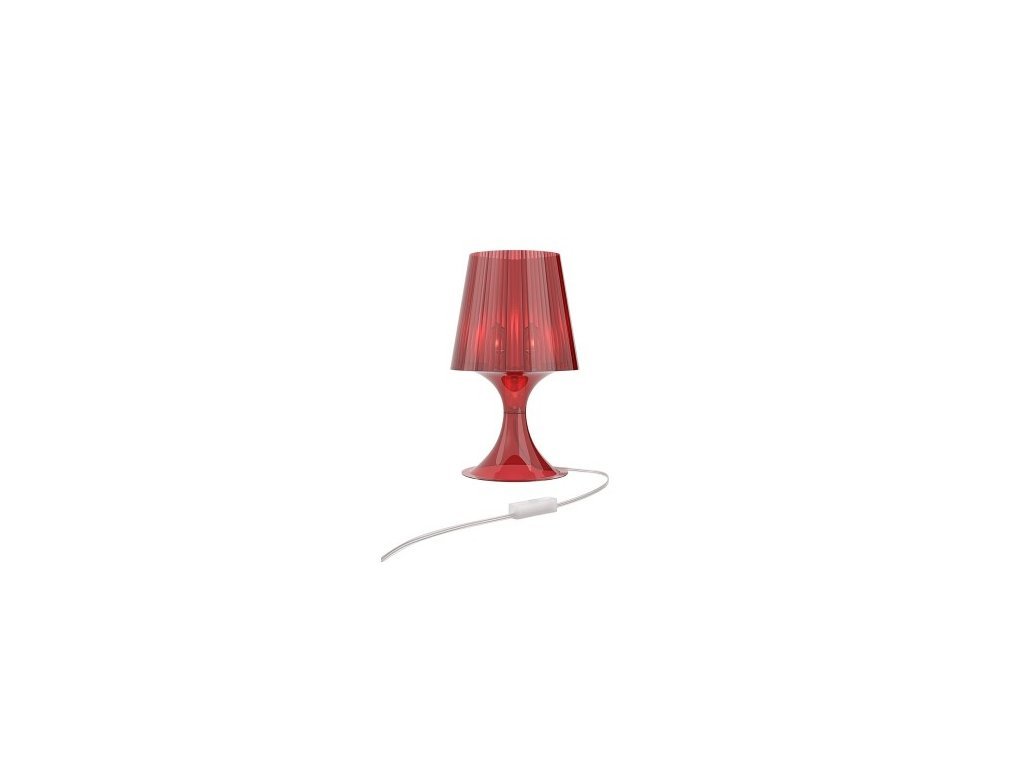 Lampa Smart červená transparent