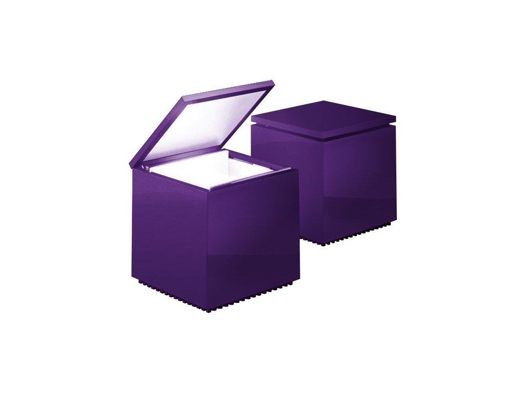 Lampička Cuboluce fialová