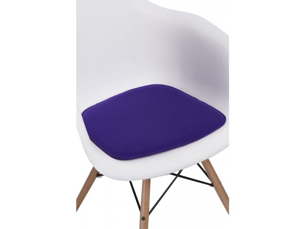 Vankúš na stoličky Arm Chair fialový