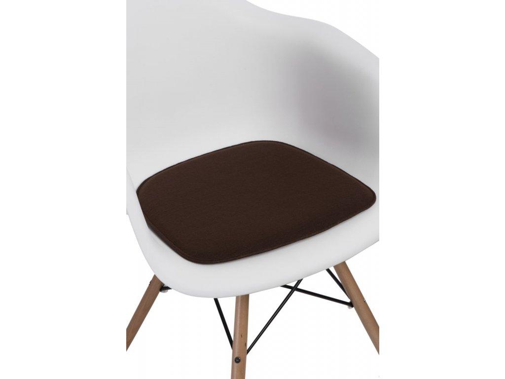 Vankúš na stoličky Arm Chair hnedý