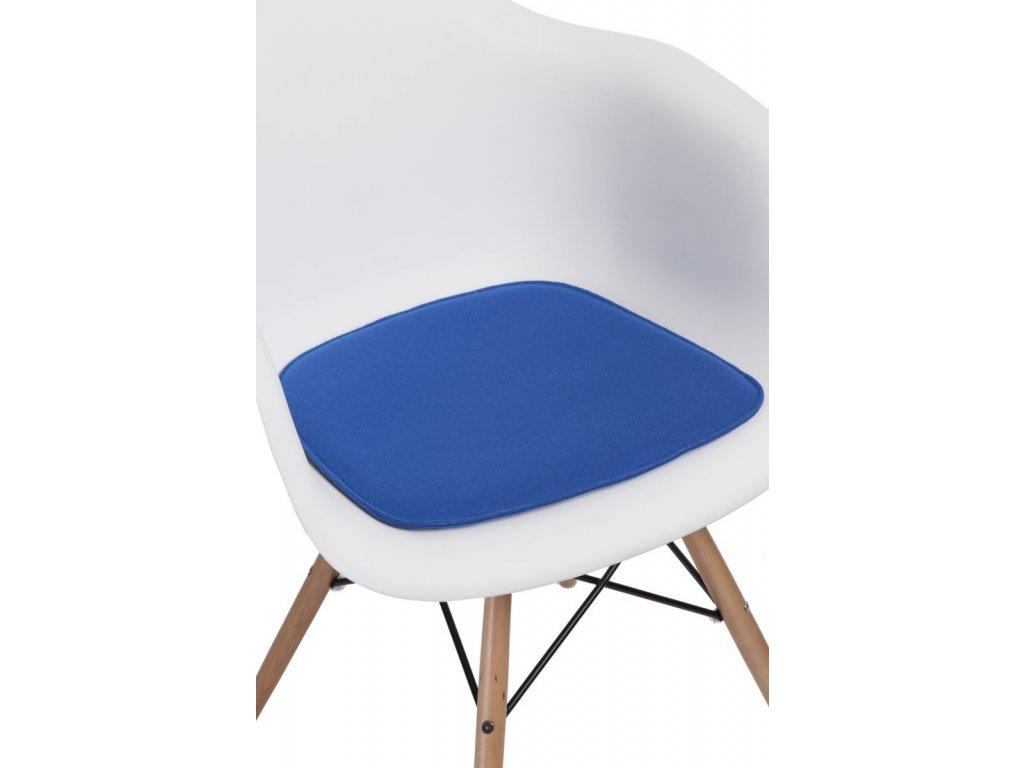 Vankúš na stoličky Arm Chair modrý