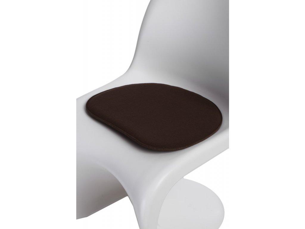 Vankúš na stoličky Balance hnedý