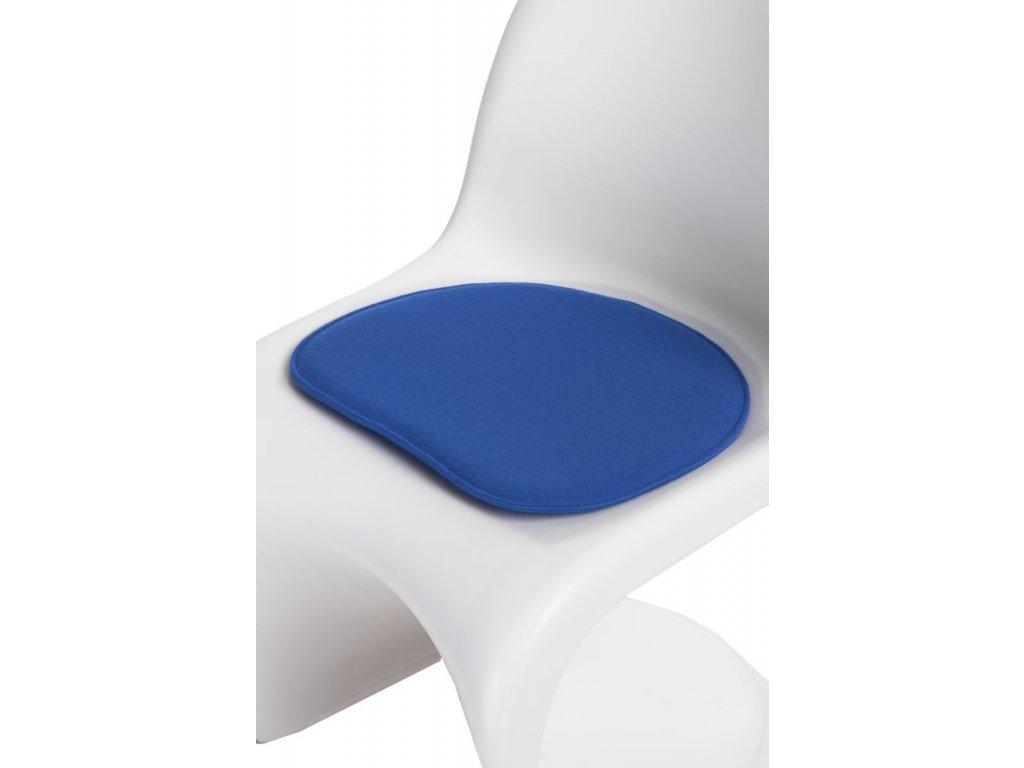 Vankúš na stoličky Balance modrý