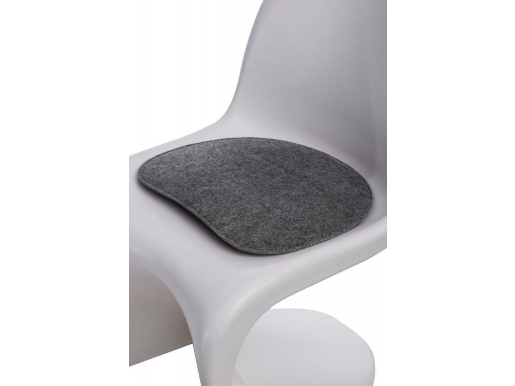 Vankúš na stoličky Balance šedý svetlý