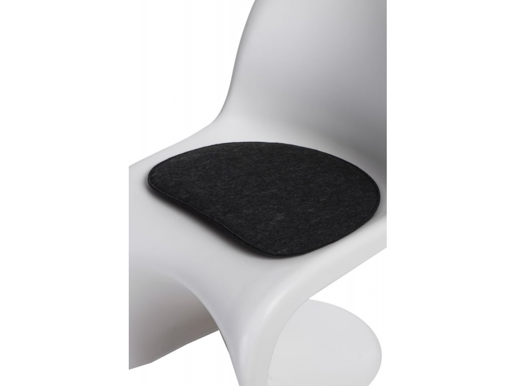 Vankúš na stoličky Balance šedý tmavý
