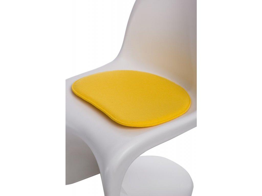 Vankúš na stoličky Balance žltý