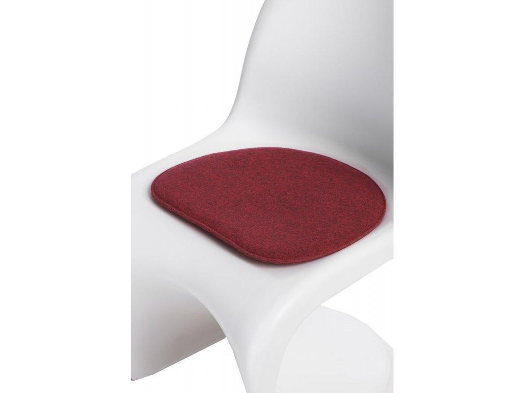 Vankúš na stoličky Balance červený zmes