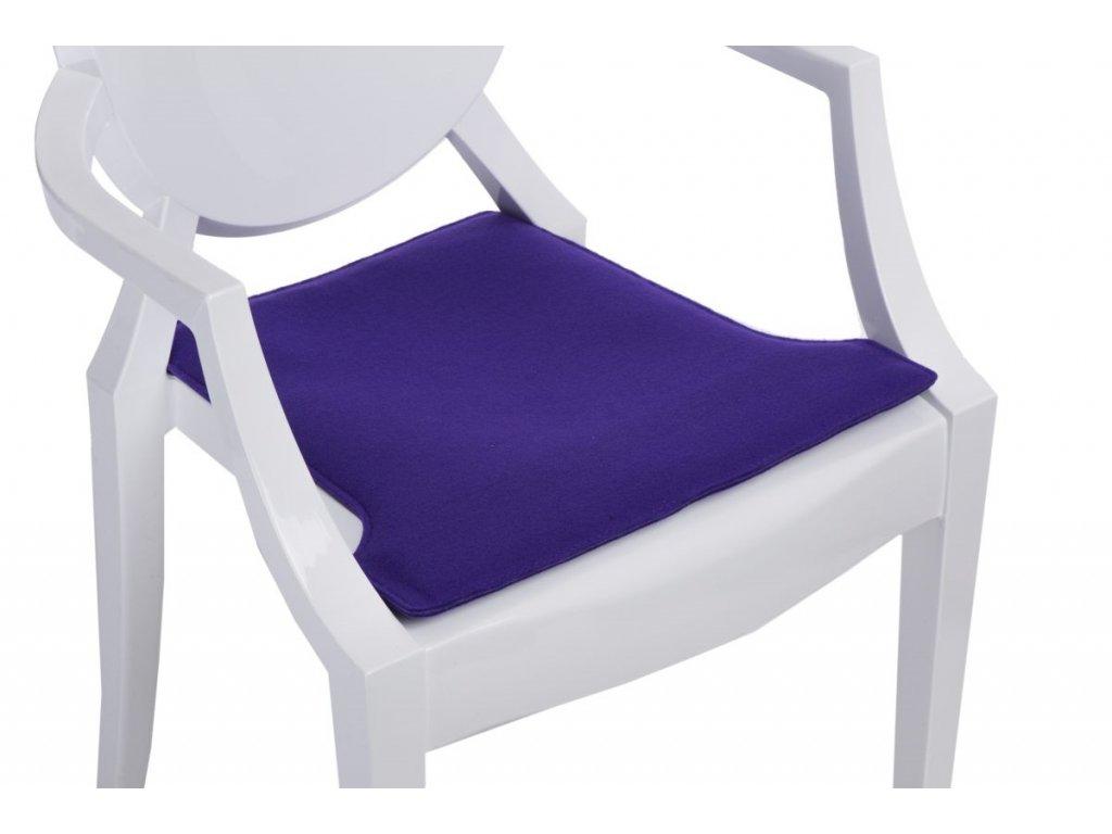 Vankúš na stoličky Royal fialový
