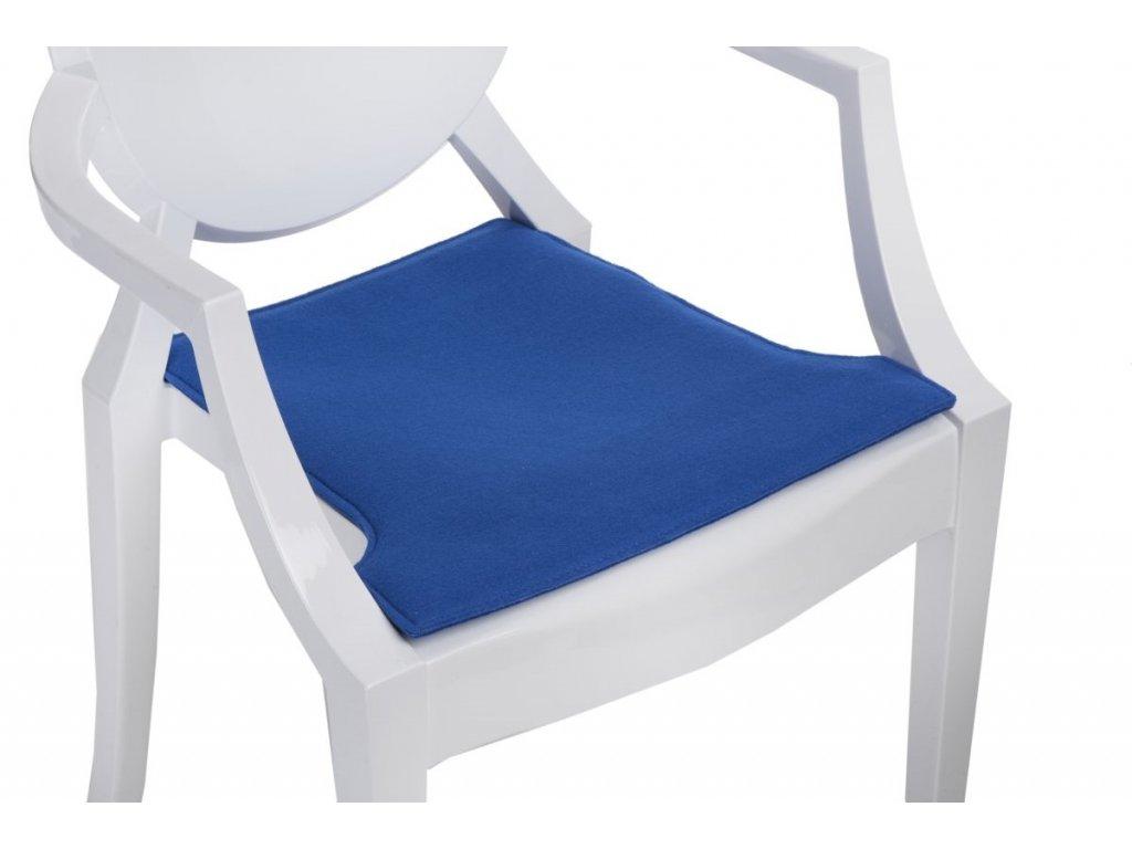 Vankúš na stoličky Royal modrý