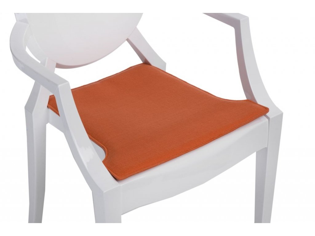 Vankúš na stoličky Royal oranžový