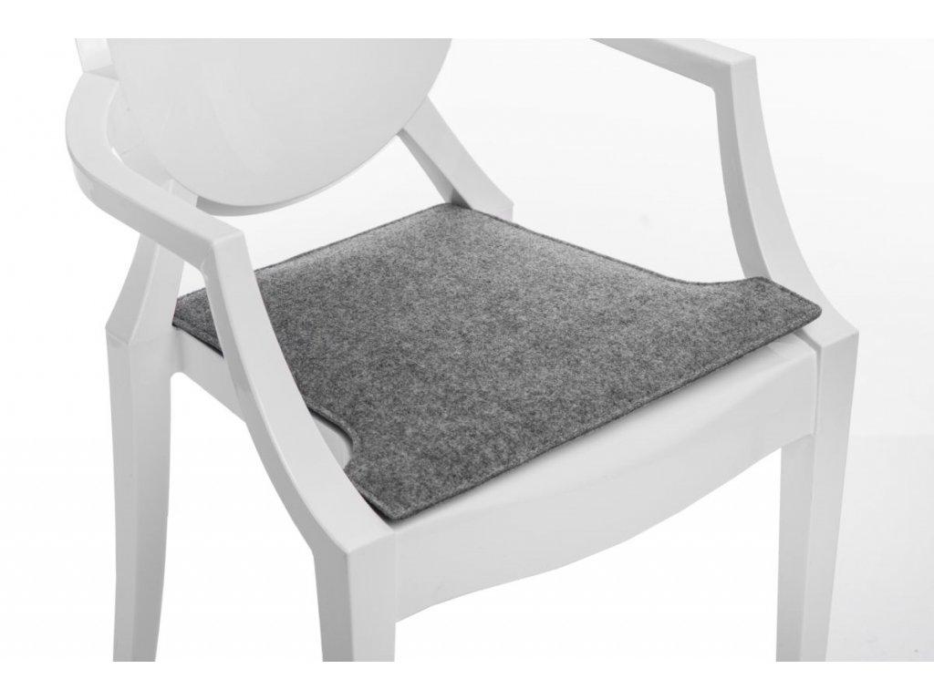 Vankúš na stoličky Royal šedý svetlý