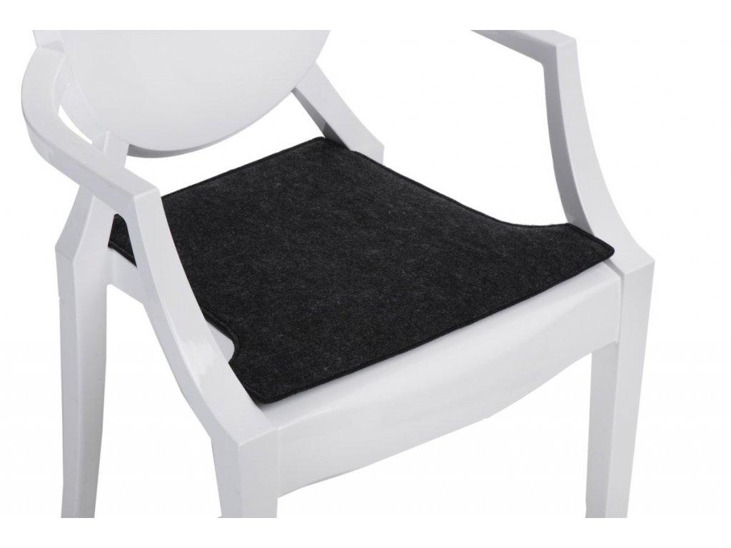 Vankúš na stoličky Royal šedý tmavý