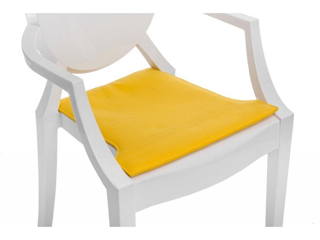Vankúš na stoličky Royal žltý