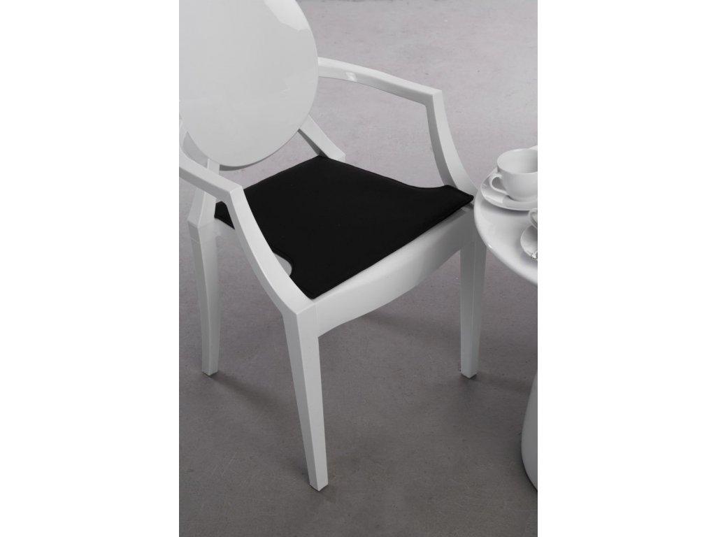 Vankúš na stoličky Royal čierny