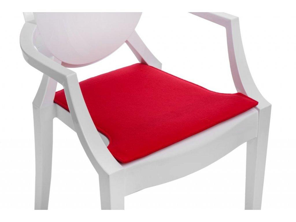 Vankúš na stoličky Royal červený