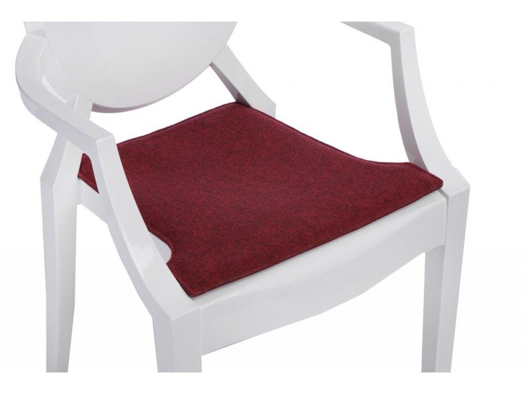 Vankúš na stoličky Royal červený zmes