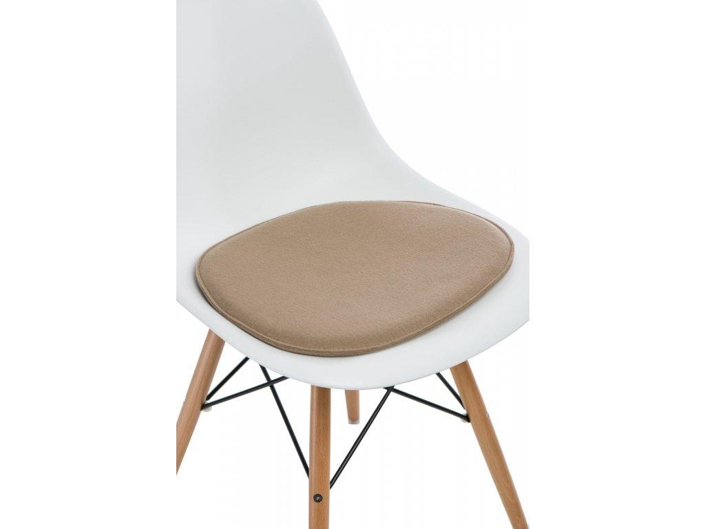 Vankúš na stoličky Side Chair béžový