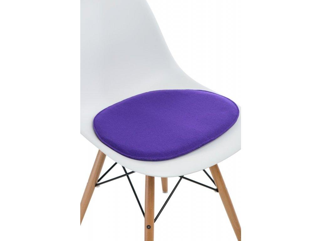 Vankúš na stoličky Side Chair fialový