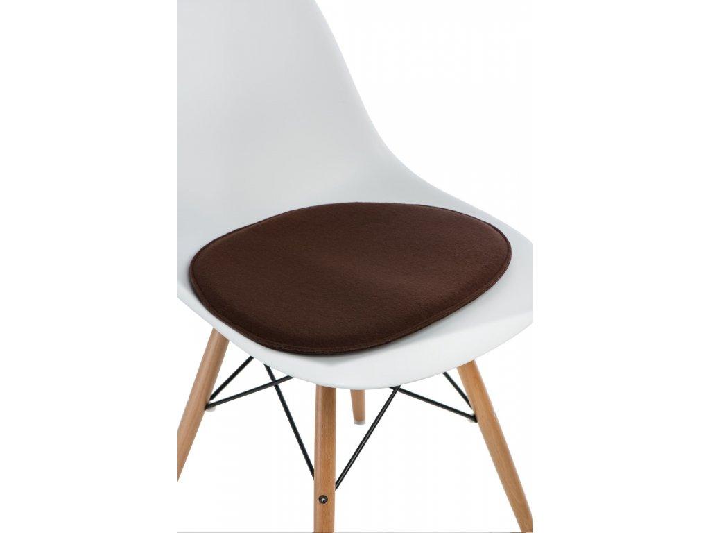 Vankúš na stoličky Side Chair hnedý