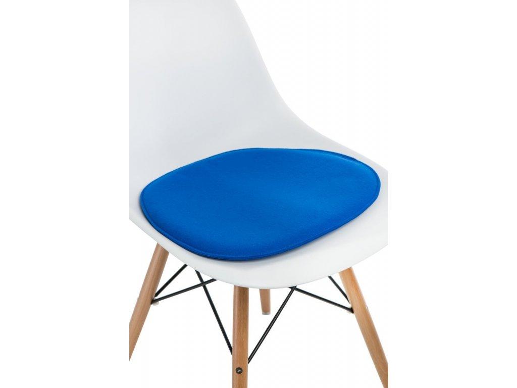 Vankúš na stoličky Side Chair modrý