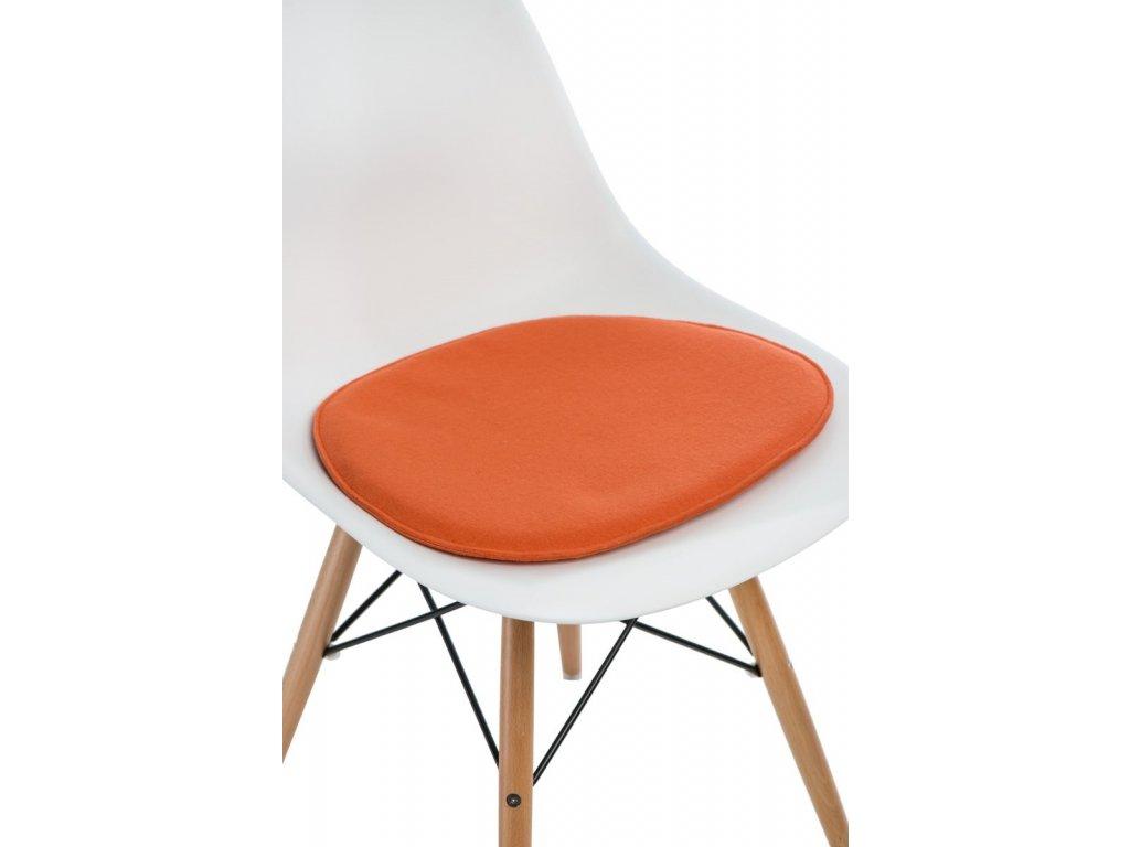Vankúš na stoličky Side Chair oranž