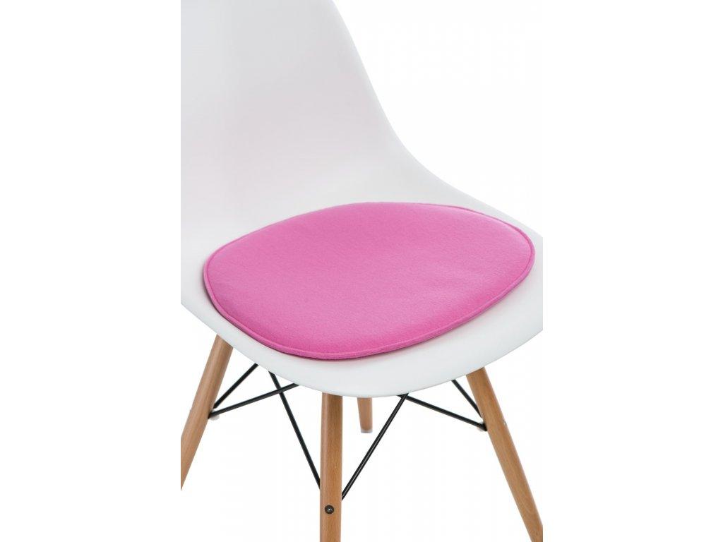 Vankúš na stoličky Side Chair ružový