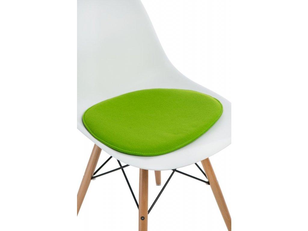Vankúš na stoličky Side Chair zelený jas.