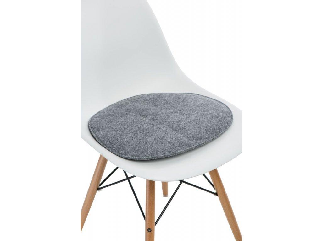 Vankúš na stoličky Side Chair šedý j.