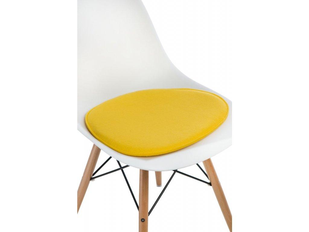Vankúš na stoličky Side Chair žltý