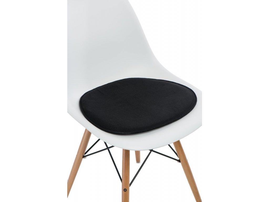 Vankúš na stoličky Side Chair čierny