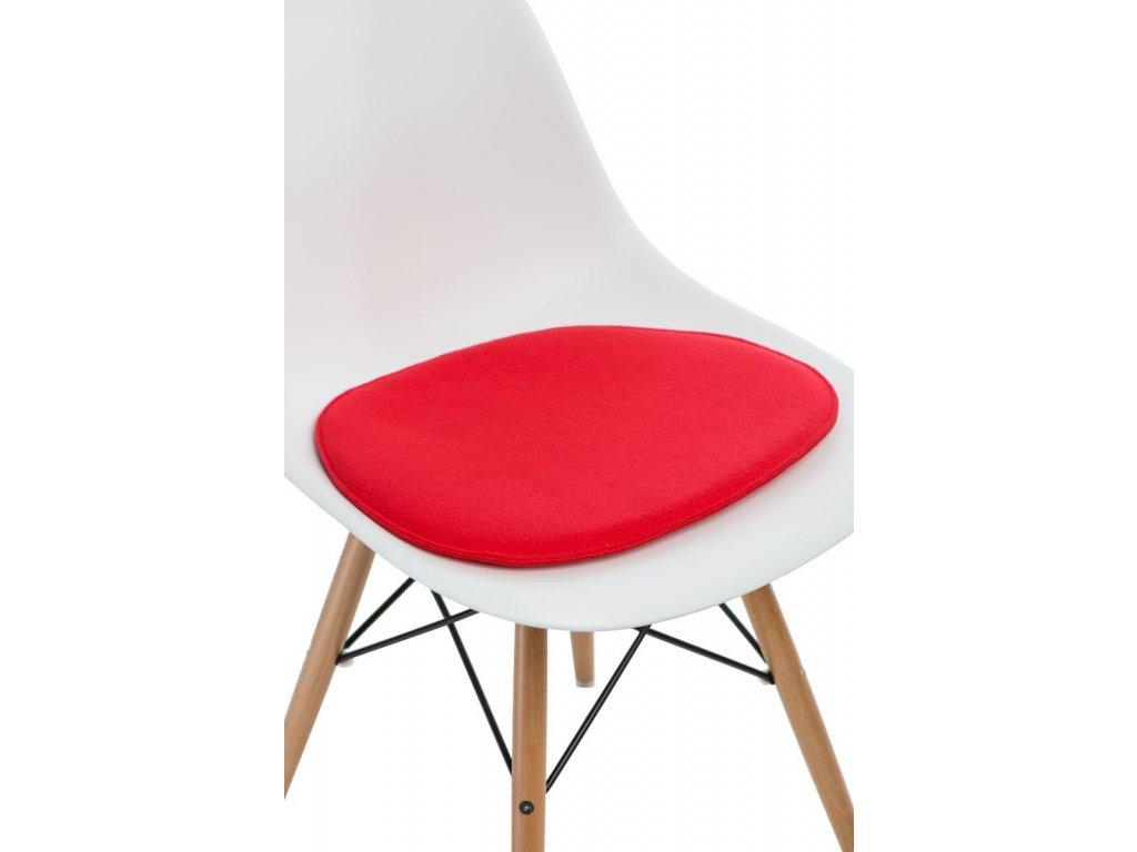 Vankúš na stoličky Side Chair červený