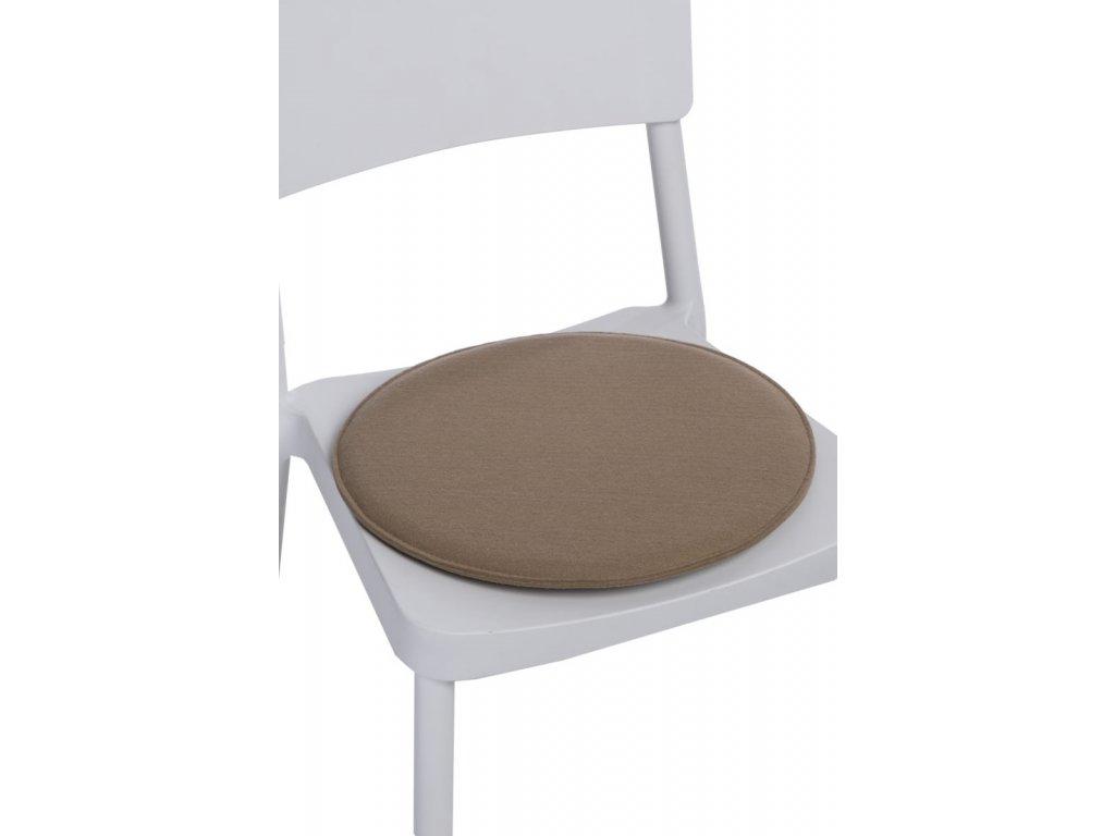 Vankúš na stoličky guľatý béžový