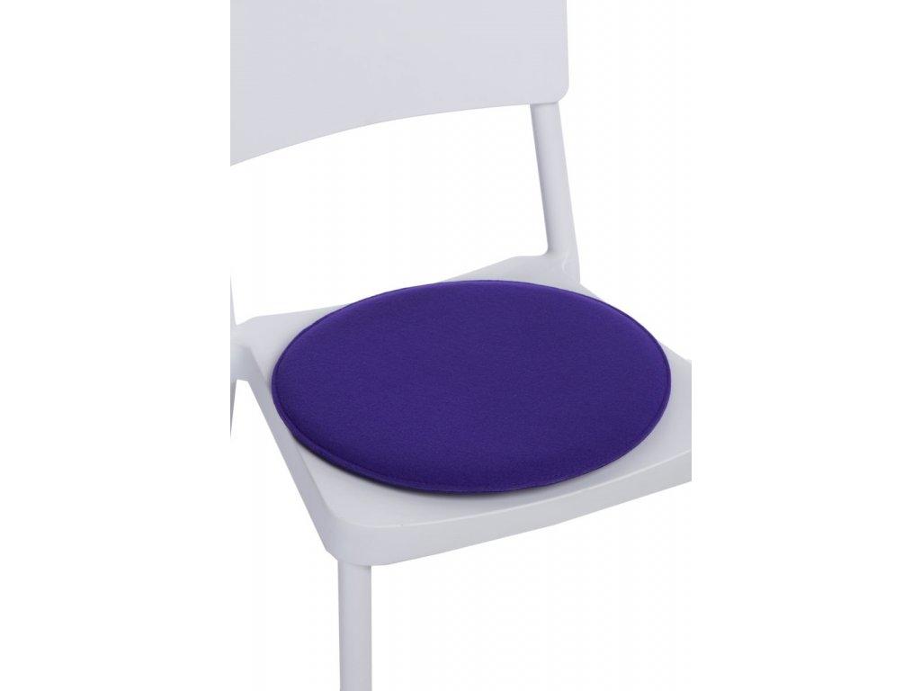 Vankúš na stoličky okrúhly fialový