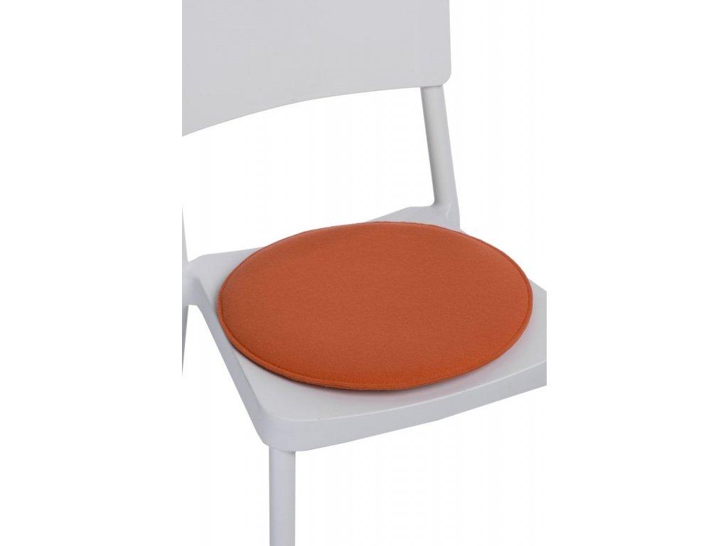 Vankúš na stoličky guľatý oranžový