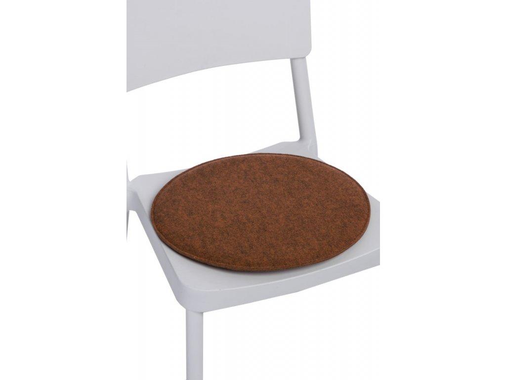 Vankúš na stoličky guľatý pom. zmes