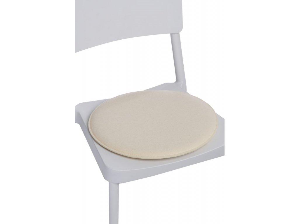 Vankúš na stoličky guľatý prírodné