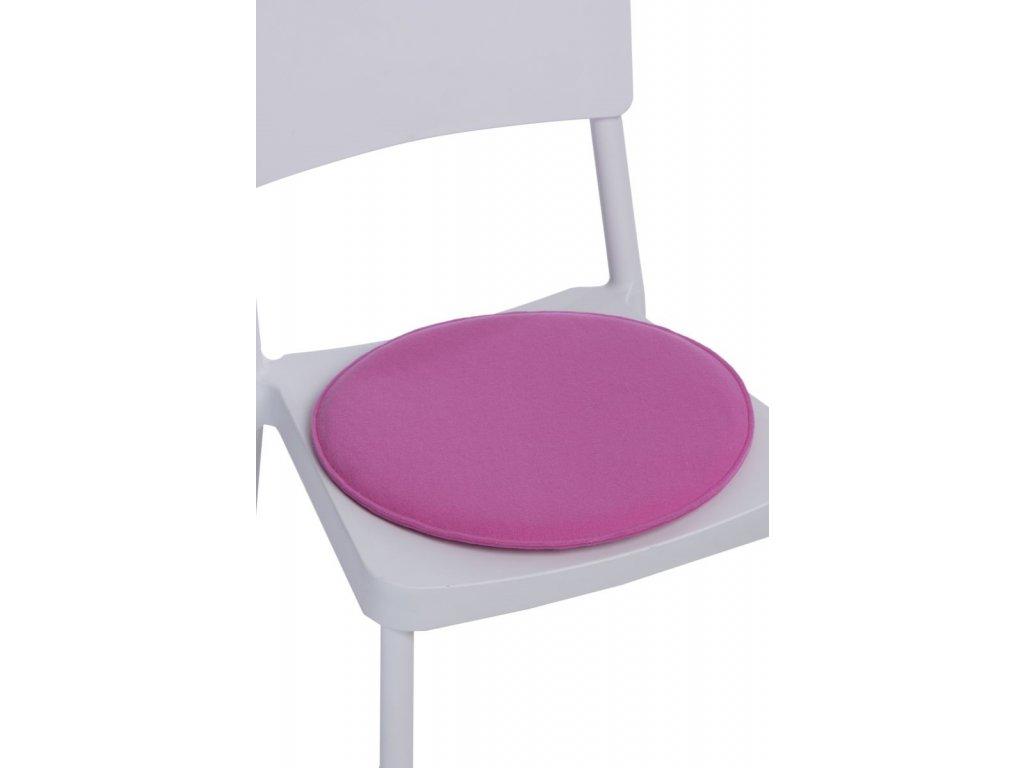 Vankúš na stoličky okrúhly ružový