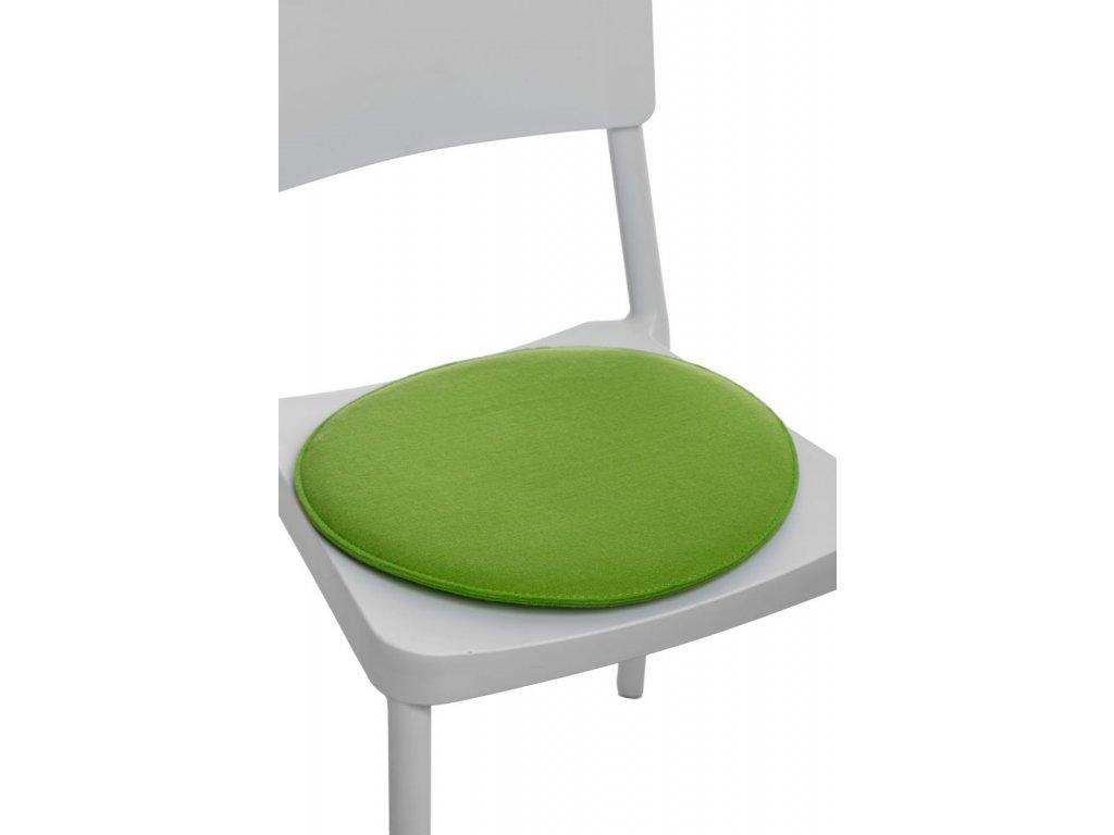 Vankúš na stoličky guľatý zelený svetlý