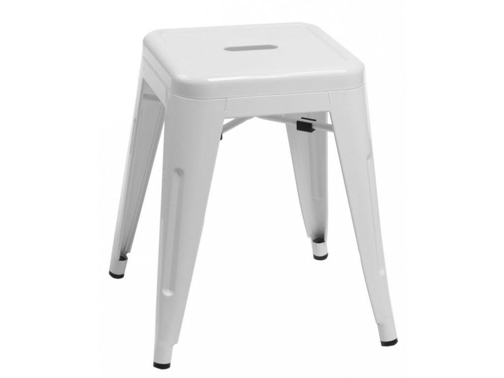 Stolička Paris biely inšpirovaný Tolix