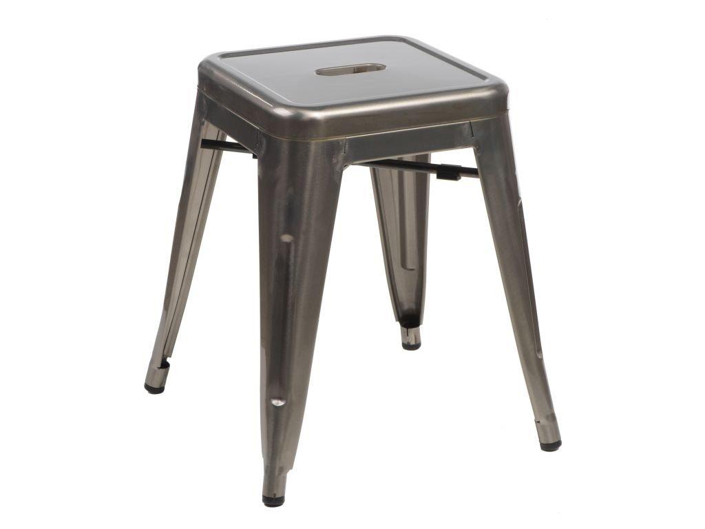Stolička Paris vo farbe kovu inšpirovaný Tolix