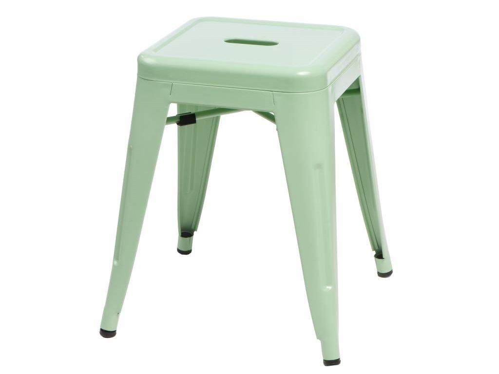 Stolička Paris zelený inšpirovaný Tolix