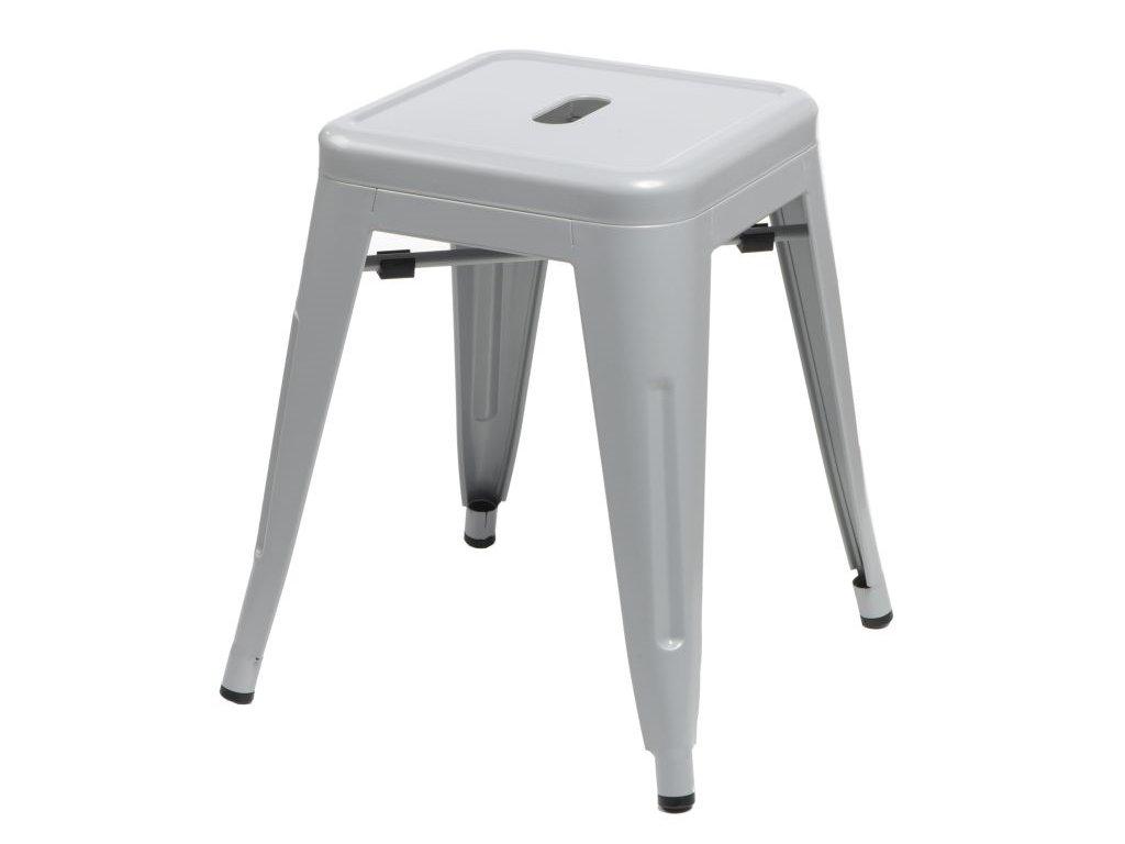 Stolička Paris šedý inšpirovaný Tolix