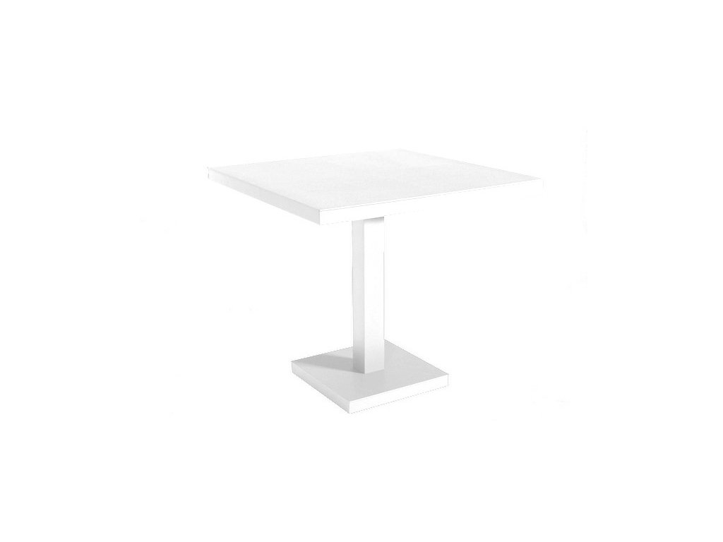 Stôl Barcino 90x90 cm s centrálnou základňou - biely